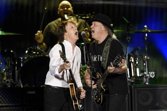 Paul McCartney et Neil Young au Desert Trip