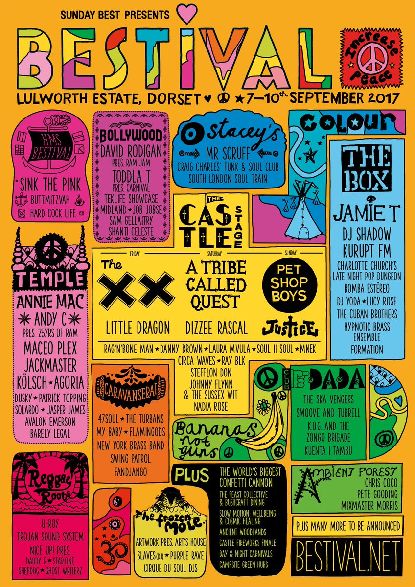 Bestival, festival, affiche, 2017, programmation