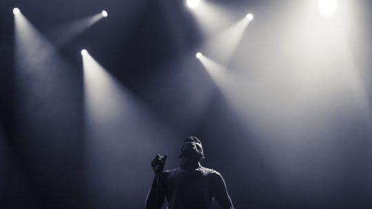 Tricky en concert à l'Elysée Montmartre, à Paris, le 15 décembre 2017