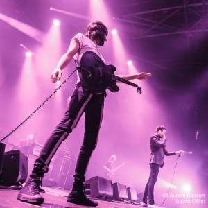 Kasabian en concert au Zénith de Paris, le 7 novembre 2014