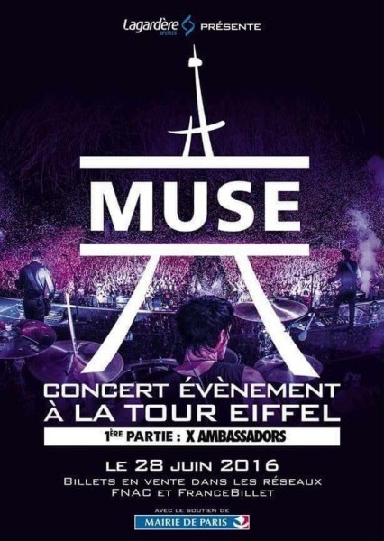 Muse Tour Eiffel tickets