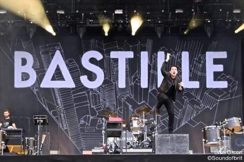 Bastille en concert au Festival Rock en Seine, Domaine National de Saint-Cloud, le 26 août 2016