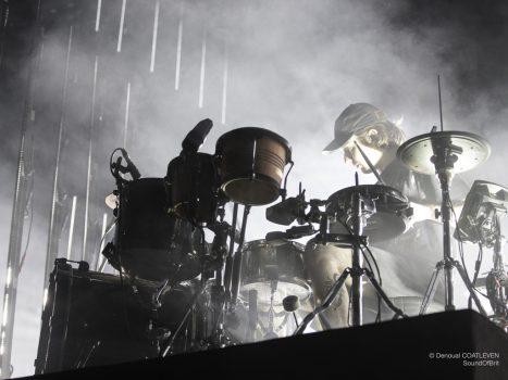 Alt-J en concert à l'Accord Arena Paris Bercy, à Paris, le 11 janvier 2018