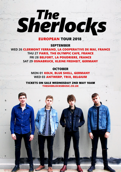 The Sherlocks à Paris en septembre