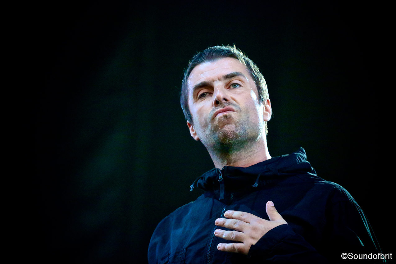 Liam Gallagher en concert au Sziget en 2018