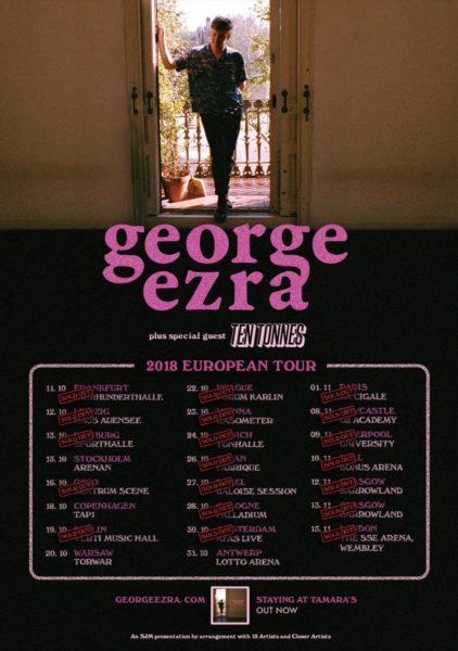 george ezra ten tonnes tournée européenne