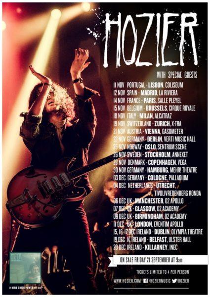 hozier tournée européenne