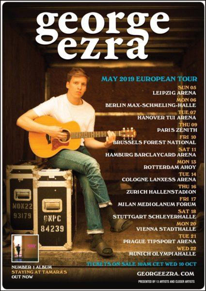 george ezra tournée 2019