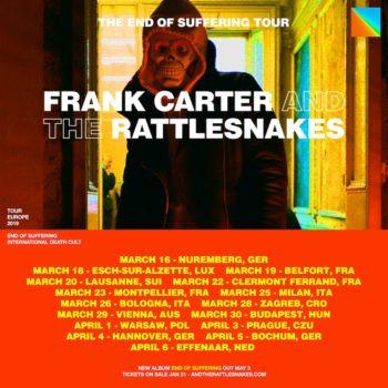 Frank Carter and the Rattlesnakes small EU Tour