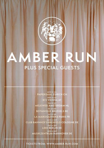 Tournée EU Amber Run