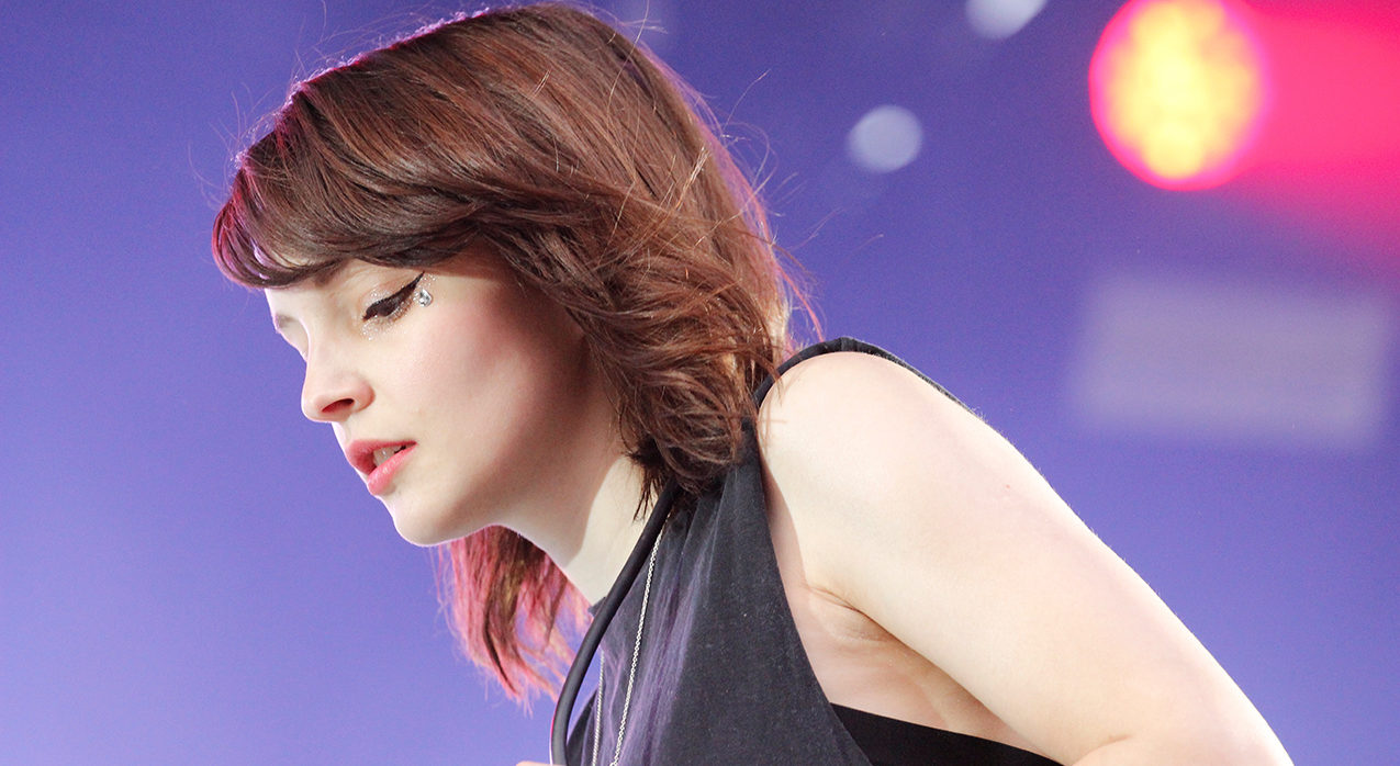 Lauren Mayberry, chanteuse de CHVRCHES, sur scène