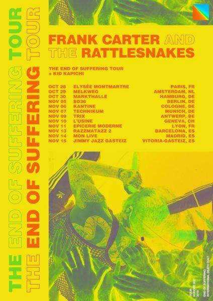 Frank Carter the Rattlesnakes tournée 2019