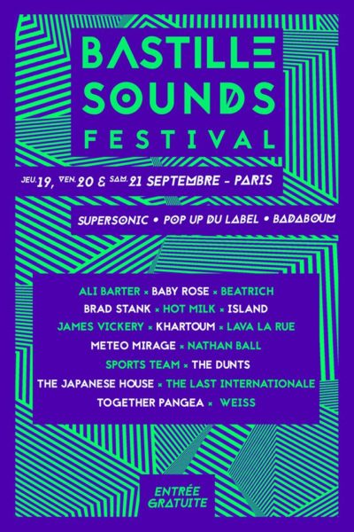 Bastille Sounds festival 2019