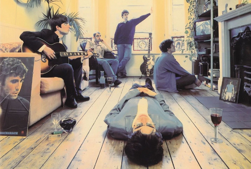 La pochette de Definitely Maybe, premier album d'Oasis