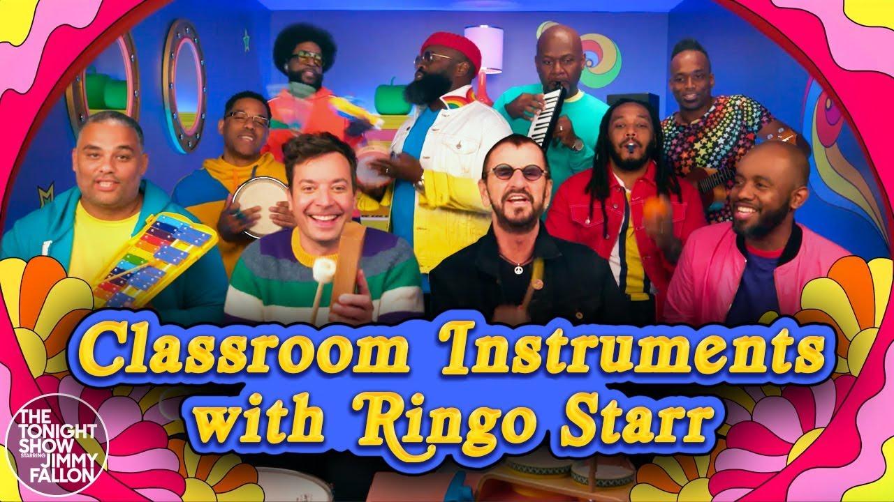 Capture d'écran Youtube de la vidéo Ringo Starr dans Classroom Instruments