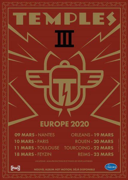Temples en tournée en France