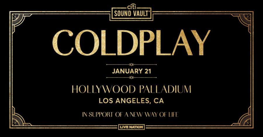 Coldplay @ The Hollywood Palladium