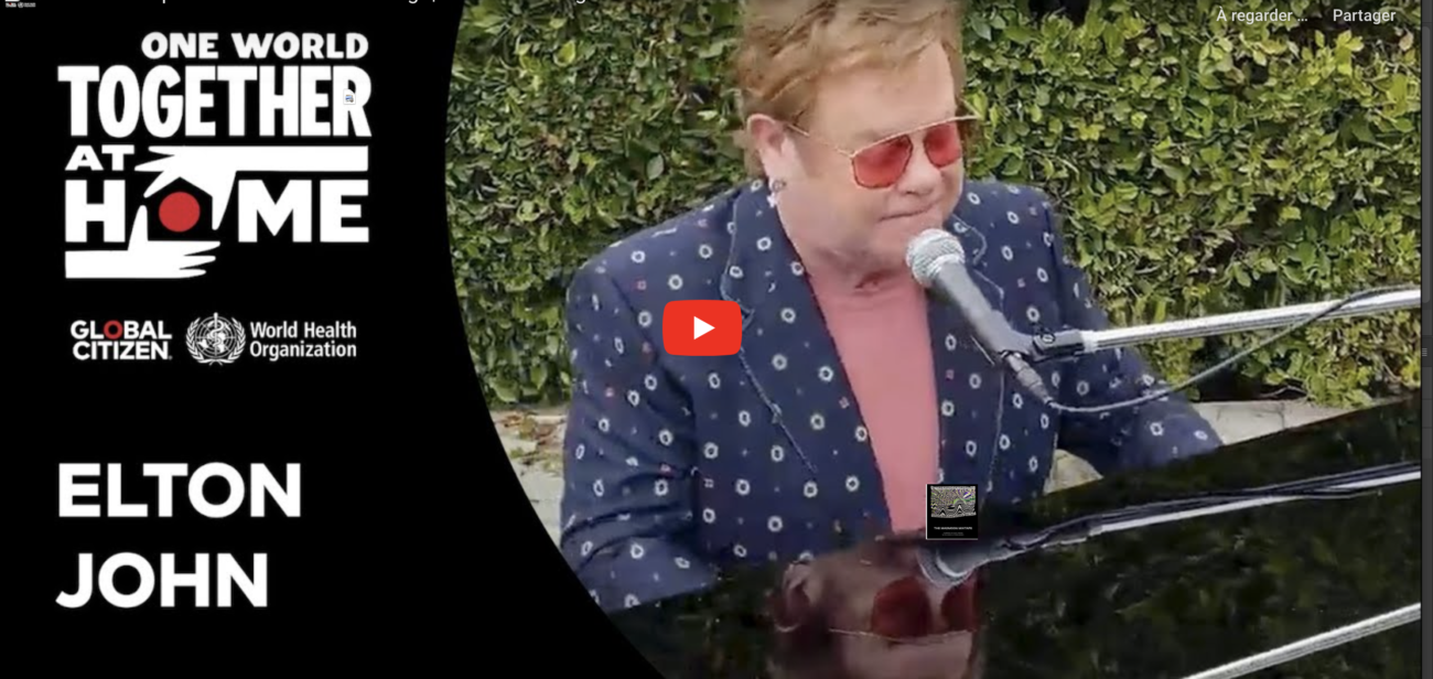 Elton John chante I'm Still Standing au concert One World Together At Home