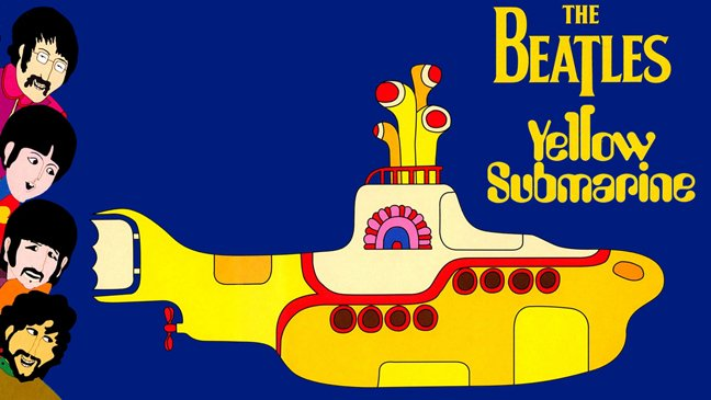 The Beatles, Yellow Submarine. via Youtube / The Beatles