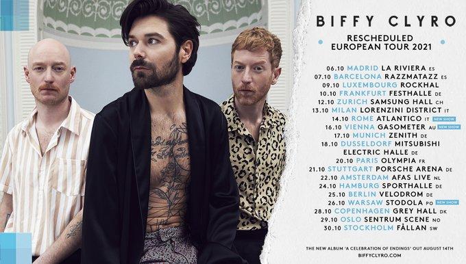 Biffy Clyro - Tournée EU 2021
