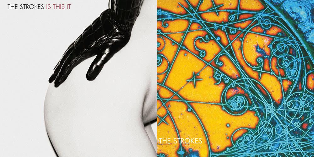 Les deux pochettes d'Is This It des Strokes